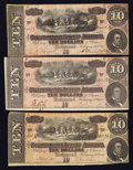 Confederate Notes:Group Lots, T68 $10 1864 Three Examples.. ... (Total: 3 notes)