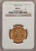 Liberty Eagles: , 1895-O $10 MS61 NGC. NGC Census: (170/95). PCGS Population(104/83). Mintage: 98,000. Numismedia Wsl. Price for problem fre...