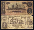 Confederate Notes:Group Lots, T20 $20 1861 & T67 $20 1864.. ... (Total: 2 notes)