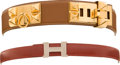 Luxury Accessories:Accessories, Hermes Gold Epsom Leather Collier de Chien Belt & Hermes PMConstance Belt. ... (Total: 2 Items)