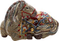 Luxury Accessories:Bags, Judith Leiber Colorful Arabian Horse Full Bead Minaudiere EveningBag. ...