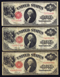 Large Size:Group Lots, $1 1917 Legal Tender Notes Three Examples Very Good-Fine. ... (Total: 3 notes)