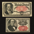 Fractional Currency:Fifth Issue, 25¢ and 50¢ Fifth Issue Notes.. ... (Total: 2 notes)