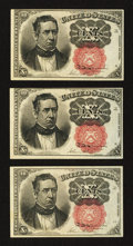 Fractional Currency:Fifth Issue, Fr. 1266 10¢ Fifth Issue. Three Examples. . ... (Total: 3 notes)