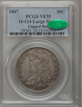 Bust Half Dollars, 1807 50C Capped Bust, Large Stars VF35 PCGS. CAC. O-114, R.3....