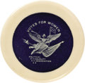 Advertising:Pocket Mirrors & Pinbacks, Extremely Rare Political Equality Association Suffrage Mirror, 57mmdiameter. Mrs. Alva Belmont's Political Equality Associa...