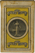 "Political:Miscellaneous Political, Rare Deck of Suffrage Playing Cards. A complete boxed set measuring2.5"" x 3.75"" x .75"". The backs carry a black ink vignet..."