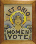 Political:Posters & Broadsides (1896-present), Let Ohio Women Vote Suffrage Poster In 1894 with the leadership of the National Women Suffrage Association starting to splin...