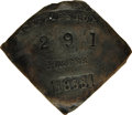 Antiques:Black Americana, 1855 Charleston PORTER Slave Hire Badge. Number 291. A flatdiamond-shaped tag with unclipped corners, 48mm x 43mm. Manufact...