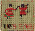 "Antiques:Black Americana, Civil War Era Stitchery Mini-Sampler ""We's Free"" Can you imaginethe joy felt by a slave who is told that they are now free ..."