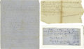 Antiques:Black Americana, Group of Six Slavery Documents. A diverse lot spanning some 70years and covering varied geographic areas. Included are the ...(Total: 6 )