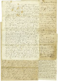 "Antiques:Black Americana, Seven Georgia Slave Documents. An excellent grouping of legalpapers with slave content from the heyday of the ""Peculiar Ins...(Total: 7 )"