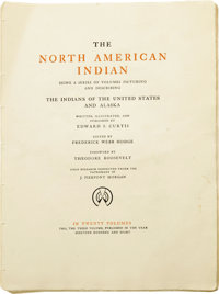 Edward S. Curtis: The North American Indian Volume Three Being a Series of Volumes Picturing and Describing The Indian...