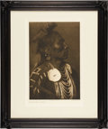 "Photography:Official Photos, Edward S. Curtis Portfolio Photogravure ""Medicine Crow - Apsaroke"" Plate 117, copyright 1908. Original image size 10.25"" x 1..."