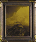 """Photography:Official Photos, Arthur C. Pillsbury Original Orotone of Half Dome at Yosemite inoriginal frame. Sight size of photo is 10.5"""" x 13.5"""" and th..."""