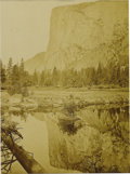 Photography:Official Photos, Carleton Watkins Original Mammoth Plate Albumen Photograph from thewet-collodion negative of El Capitan in Yosemite Valley,...