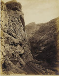 Photography:Official Photos, William Henry Jackson Albumen of the Royal Gorge in Colorado. Jackson (1843-1942) certainly led an interesting (and quite lo...