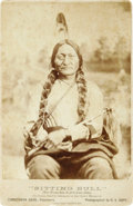 "Photography:Cabinet Photos, Sitting Bull: A Scarce Early Cabinet Photo of the Sioux Chief ""InCommand At The Custer Massacre"". An O.S. Goff photo publis..."