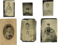 Photography:Tintypes, Large Lot of Tintypes Featuring African-American Women. Sixtintypes with interesting studies of well-dressed African-Americ...(Total: 6 )