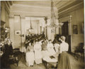 "Antiques:Black Americana, Mixed-Race Meeting. An interesting mounted photograph, 9.5"" x 7.75""on a 14"" x 11"" board, showing a meeting of women, both b..."