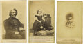 """Photography:CDVs, Three """"Black Americana"""" Cartes de Visite. The first of these three images is of Frederick Douglass, the great Black Amer... (Total: 3 )"""