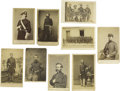 Photography:CDVs, Nine Cartes de Visite Showing Union Officers and Enlisted Men. An eclectic assortment of portraits headlined by an A... (Total: 9 )