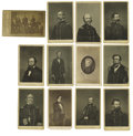 Photography:CDVs, Twelve Cartes de Visite of Union Officers and Politicians From Lithographs. Included are the following personalities... (Total: 12 )