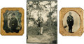 Photography:Tintypes, Three Military Tintypes, Civil War and Later. A nice offering of soldiers' images as follows:. Union infantry corporal 1/6... (Total: 3 )