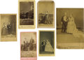 Photography:CDVs, Group of Six Images Showing Midget Celebrities. During the late 19th century performing midgets, their agents and managers m... (Total: 6 )