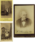 """Photography:CDVs, Phineas T. Barnum, Tom Thumb, and Admiral Dot Portraits. Cabinet card signed """"P. T. Barnum 1885"""" imprinted on lower marg... (Total: 3 )"""