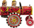 "Antiques:Toys, Marx Rollover Jalopy Wind-up Toy. . Tin litho design, 4.5"" high and 5.5"" long, Marx maker's mark located on passeng..."
