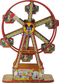 "Antiques:Toys, J. Chien & Company Disneyland Ferris Wheel Wind-up Toy.. Tin litho, 16.5"" tall, copyright Walt Disney Productions, n..."