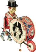 "Antiques:Toys, Marx Charlie McCarthy Strike Up the Band. Wind-up Toy..Classic tin litho, 9"" long x 7.75"" tall, Louis Mark, New Yor..."