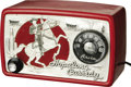 Antiques:Toys, 1950 Vintage Metal Hopalong Cassidy Arvin Radio. Original red and silver tube radio from the golden age of radio ent...