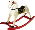 Antiques:Toys, Rich Toys Hopalong Cassidy's Topper Rocking Horse.. Molded plastic head and body with wooden legs on wooden rockers ...