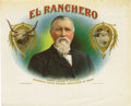 """Antique Stone Lithography:Cigar Label Art, El Ranchero Cigar Labels by George Schlegel of New York. The first pictures """"Capt. John T. Lytle, Secretary Cattle R... (Total: 2 )"""
