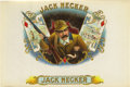"Antique Stone Lithography:Cigar Label Art, Jack Necker Bird Hunting Cigar Label. Full color lithographed 9.75"" x 6.5"" inner label with gold-embossed brand name..."