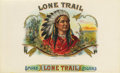 "Antique Stone Lithography:Cigar Label Art, Lone Trail Native American Cigar Label by Schmidt & Co., New York, 1901. Full color lithographed 10"" x 6"" inner labe..."