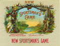 """Antique Stone Lithography:Cigar Label Art, New Sportsman's Game Cigar Label by Guduian & Busir. Full color lithographed 8.5"""" x 6.5"""" inner label. Field and stre..."""