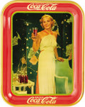 "Advertising:Soda Items, 1935 Madge Evans Coca-Cola Tray, 10.5"" x 13.25"", by American Art Works, Coshocton, Ohio. Glamorous Hollywood celebrities hav..."