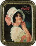 "Advertising:Soda Items, 1914 ""Betty"" Coca-Cola Tray, 10.5"" x 13.25"", by Passaic Metal Ware,Passaic, New Jersey. This original tray carries one of C..."