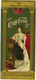 Advertising:Soda Items, Extraordinarily Beautiful 1904 Coca-Cola Color Litho EmbossedBookmark. This exceptional piece was published by Wolf and Com...