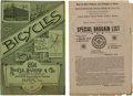 Miscellaneous:Catalogs, 1894 Rouse Hazard & Company Bicycle Catalog With Bargain ListSupplement. An original 1894 Rouse Hazard & Company catalog,3...