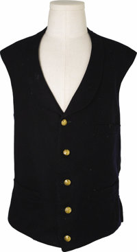 Indian Wars Period U.S. Army Officer's Five Button Vest. A nice example of a vest from the post-Civil War U.S. army. The...