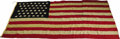 Antiques:Textiles, Rare United States 43 Star Flag. The 43 star American flag was onlyflown from 1890 to 1891. This example measures about 4'4...
