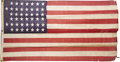 Antiques:Textiles, United States 44 Star Flag. A nice American flag from the 1891-1896period measuring 3' x 6'. The flag is constructed of woo...