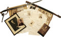 Military & Patriotic:Civil War, Rear Admiral George W. Beaman Civil War Sword and Archive. This substantial collection follows the career of George William ... (Total: 8 )