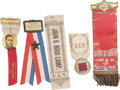 Military & Patriotic:Civil War, Hood's Texas Brigade UCV Ribbon Grouping. Five Confederate veteran ribbons built around the Kentucky-born Lieutenant General... (Total: 5 )