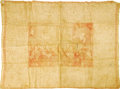 Political:Textile Display (pre-1896), George Washington: An Extremely Rare Contemporary Bordered Bandana.This large cotton bandana, circa late 1790s, depicts Was...