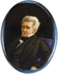 Political:Miscellaneous Political, Andrew Jackson: A Stunning Hand-Painted Enamel Miniature. Asuperbly detailed image in pristine condition. The artist has no...